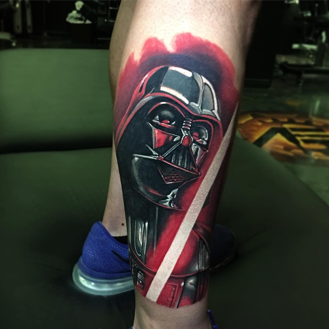 Darth Vader Mask Tattoo Design