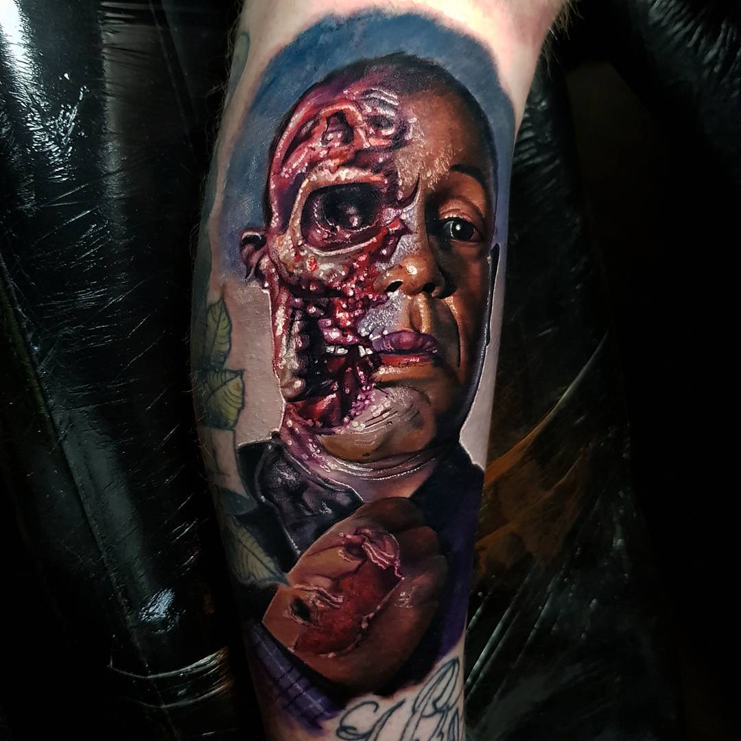 gustavo fring tattoo by alex wright. Black Bedroom Furniture Sets. Home Design Ideas