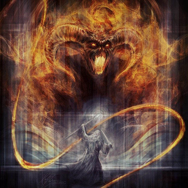 Gandalf And Balrog By Jasric Art